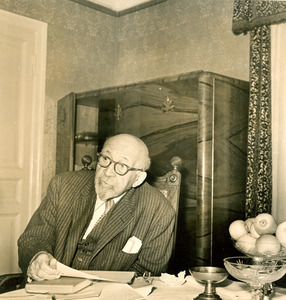 W. E. B. Du Bois at National Hotel in Moscow