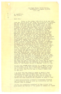 Letter from E. D. McGloin to Editor of the Crisis