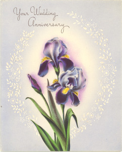 Anniversary card from Mayme L. Abrams to Nina and W. E. B. Du Bois