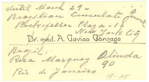 A. Gaviao Gonzaga business card