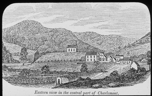 Eastern view in the central part of Charlemont (etching)