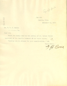 Letter from G. H. Boone to W. E. B. Du Bois