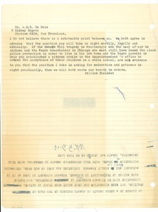 Notes on proposed KROW debate between W.E.B. Du Bois and William Faulkner on racial progress in the south