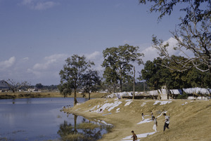 Laundry on the river bank near Ranchi
