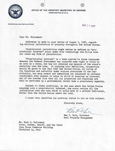 Letter from Office of the Assistant Secretary of Defense to Mark H. McCormack