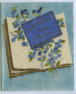 Birthday card from Alice and Fred Crawford to W. E. B. Du Bois