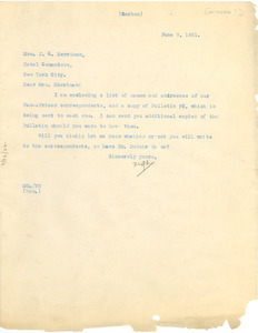Letter from Madeline G. Allison to Myra Kingman Merriman