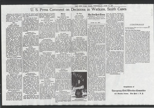 Compilation of newspaper articles on civil liberties