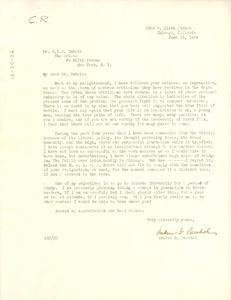Letter from Andrew G. Paschal to W. E. B. Du Bois