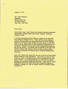 Letter from Mark H. McCormack to Dave Mahoney