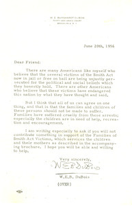 Letter from Charles A. Francis to W. E. B. Du Bois
