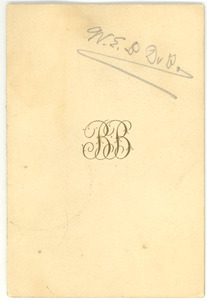 Card from unidentified correspondent to W. E. B. Du Bois