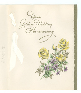 Anniversary card from Mr. and Mrs. S. Benjamin Tilghman to W. E. B. and Nina Du Bois