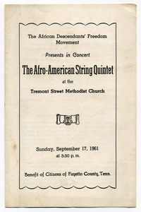 Afro-American string quartet program
