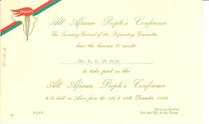 All African People's Conference invitation