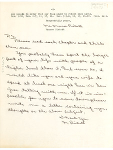 Fragment of letter from Monroe Pickett to W. E. B. Du Bois
