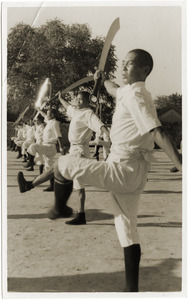 Chinese soldiers, broadsword practice