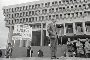 Abortion reform rally at Boston City Hall: Josiah Spaulding speaking