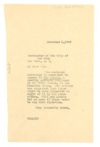 Letter from W. E. B. Du Bois to United States Post Office