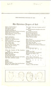 The Christmas prayers of God