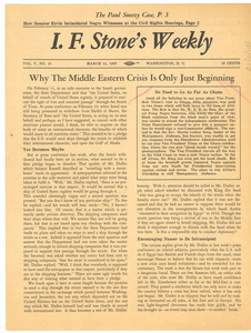 I. F. Stone's Weekly, volume v, number 10