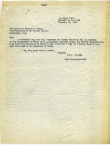 Letter from W. E. B. Du Bois to Richard Nixon