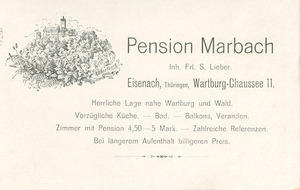 Postcard of Pension Marbach