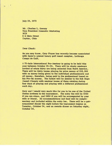 Letter from Mark H. McCormack to Charles L. Keenoy