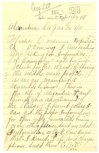 Letter from unidentified correspondent to Editor of the Crisis [fragment]
