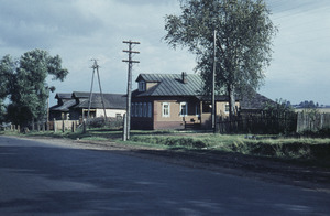 Houses along a rural road