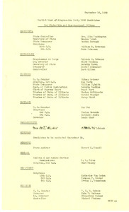 Partial list of Progressive Party 1950 candidates for state-wide and congressional offices