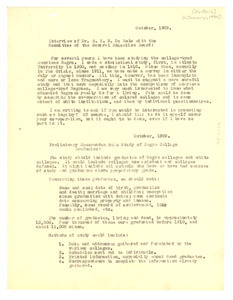 Interview of Dr. W. E. B. Du Bois with the Committee of the General Election Board