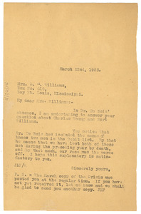 Letter from Crisis to E. M. Williams