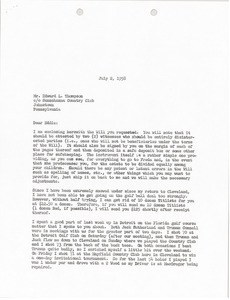 Letter from Mark H. McCormack to Edward Thompson