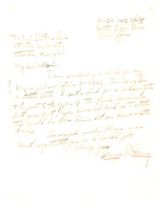Letter from George R. Shivery to W. E. B. Du Bois