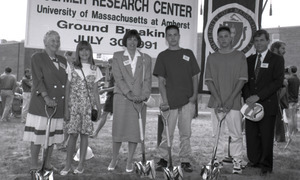 Ceremonial groundbreaking: Conte family group