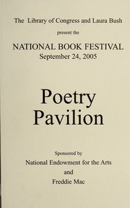 The Library of Congress and Mrs. Laura Bush present the National Book Festival (September 30, 2006) poetry pavilion