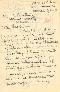 Letter from Luther Henry Smith to W. E. B. Du Bois
