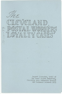 The Cleveland postal workers loyalty cases