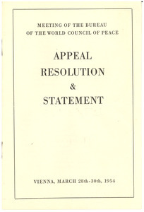 Appeal resolution & statement