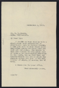 Letter from W. E. B. Du Bois to H. H. Kroll