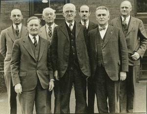 Dr. Michael Connor standing outdoors with Hawley, Machmer, Kenney, Thayer, Baker and Van Meter