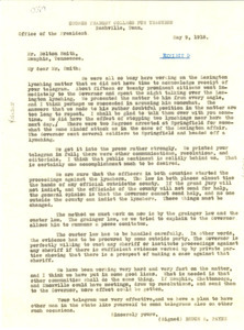 Letter from George Peabody College for Teachers to Bolton Smith