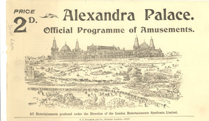 Alexandra Palace programme of amusements