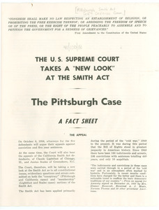 The U.S. Supreme Court takes a 'new look' at the Smith Act