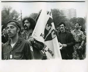 Vietnam Veterans Against the War carry their banner