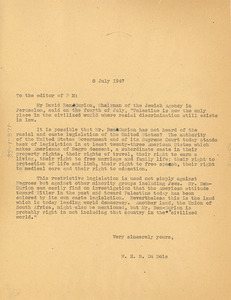 Letter from W. E. B. Du Bois to P. M.