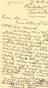 Letter from Forrest Washburn to the Crisis
