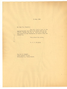Letter from W. E. B. Du Bois to N. F. Mossell