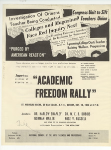 Academic Freedom Rally flier